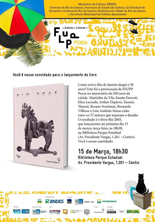 livro Rio 2065, da Editora Casa da Palavra