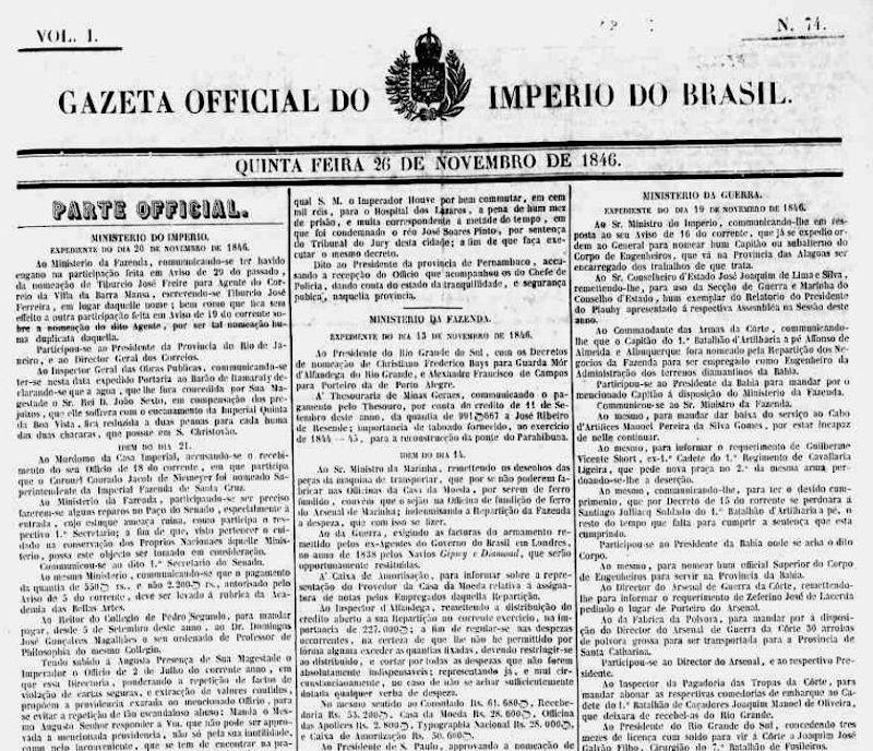 primeiro avistamento relatado no Brasil de um objeto voador não identificado, feito pelo capitão de fragata Augusto Laverger